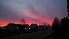 Another Brittany Lane Sunset (joeldinda) Tags: olympus em1 omd michigan mulliken village mullikenmeadows house tree cloud sky sunset 3937 december