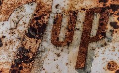 Freshen Up (Junkstock) Tags: 7up aged abandoned artifact artifacts advertisement advertising americana california corrosion corroded decay decayed distressed graphics graphic old oldstuff relic rust rusty rusted sign signage signs typography type text textures texture vintage wynola weathered