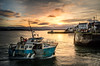Heading Home (garethleethomas) Tags: boat sea coast harbour water sky sunset clouds old wales uk greatbritain