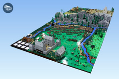 The Jacobite Risings (peggyjdb) Tags: lego scotland britishhistory history mountain battle british britain barracks river stream collaborative