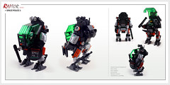 Raptor series: Space Police 2 (Brixnspace) Tags: raptor walker frame powersuit suit lego moc toy biped space bot riot shield police spacepolice2 sp2 stick magnet