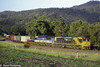 The end of an era (Dylan B`) Tags: qld nsw queensland glenapp 7bm7 aurizon qr freight train locomotive loco diesel mountains trees sunset canon photography