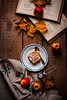Apple pie (katarri) Tags: nikon nikond750 d750 nikkor 50mm 14 indoor food foodie dessert apple apples applepie pie homemade cooking baking leaf leaves wood wodden fabric books book sugar plate rustic vintage oldschool cosy warm fall autumn stilllife cusine orange red yellow beige brown white black home polska poland november