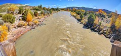 View from Skull Bridge (JoelDeluxe) Tags: riochama wildscenic river water fall autumn trees soils rocks colors red gold brown beige ojito newmexico nm hdr landscape panorama riverscape valley joeldeluxe