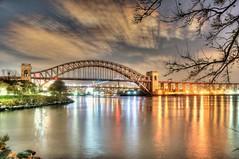 Hellgate Bridge with RFK behind (Andrew Aliferis) Tags: andrew aga aliferis hdri highdynamicrangeimage photomatix astoria ny newyork