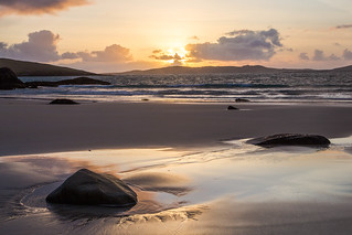 sunset over Taransay
