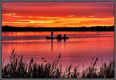 Navegando al son de la luz (Jose Roldan Garcia) Tags: luz libre libertad laguna aire atardecer agua humedal horizonte belleza barcas nubes siluetas colores cielo contraluz villafranca acuática paseo