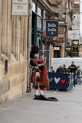 And Another Piper (Crisp-13) Tags: edinburgh scotland scottish piper bagpipe player kilt tartan