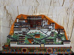 Potala Palace Model in Lobby (oxfordblues84) Tags: oat overseasadventuretravel tibet architecture building lhasa lhasatibet potalapalace thepotala potalapalacemodel hotel lobby minshanhotellhasa minshanhotel tibetautonomousregion tibetautonomousregionchina china