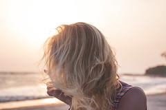 Sunset blonde (Juha Helosuo) Tags: india goa portrait blonde sunset hair beauty canon photography travel beach color nature light natural waves coastline ocean