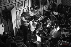 Brickwork Lizards (garrettc) Tags: music gig sofarsounds oxford oxfordsofar tapsocial live halloween brickworklizards bw
