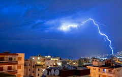 Exclamation point (Marwanhaddad) Tags: thunder storm lebanon city sky night nightscape cityscap clouds