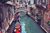 Venice (izzistudio) Tags: canal travel gondolas flowers italy venice emeral green buildings architecture europe european bridge red romantic water building buy photography online etsy shop wall decor boat balcony