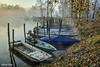 Boats (Explore) (alfvet) Tags: barche boats fiume nebbia atmosfere nikon autunno parcodelticino