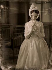 ghost's pain (dolls of milena) Tags: bjd abjd resin doll edria spiritdoll proud portrait hospital vintage retro lldt la legende de temps