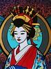 oiran  I (Jill Feenstra) Tags: oiran geisha geiko kimono kanzashi painting original acrylic