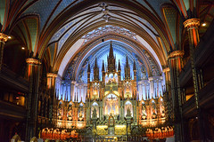 Québec City (NancieGCorby) Tags: basilica blue cathedral catholic catholicism christianity church dome history inside old roof travel altar arched architecture canada ceiling christian culture dame decorations glass historic holy indoor interior landmark lights magnificent montreal monument mystery notre notredame parish quebec religion religious sanctuary stained symmetrical symmetry tourism vaulted worship
