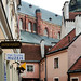 the small lanes in the city of Riga