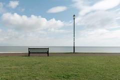 Enjoy The View (John Pettigrew) Tags: lamp tamron d750 nikon streetlamp bench lamppost space empty light urban sky clouds silence gorleston colour 2470mm deserted streetlight seafront pastel documenting seaside