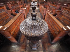 Oak font (badger_beard) Tags: oak font carved carving carpentry 17thcentury jamesi oxhey chapel london cct churches conservation trust redundant pews cover charity thecct