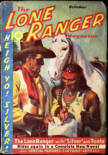 The Lone Ranger Magazine Vol. 2, No. 1 (October 1937). Cover Art by H. J. Ward