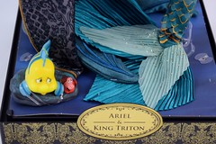 2017 Disney Designer Ariel and King Triton Doll Set - Covers Off - Midrange Front View of Base (drj1828) Tags: 2017 disney disneydesignercollection kingtriton ariel boxed thelittlemermaid uncovered purchase limitededition le6000 12inch