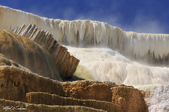 Percussion_T3W0582 (Alfred J. Lockwood Photography) Tags: alfredjlockwood nature landscape travertine mammothhotsprings geothermalrunoff steam clearsky yellowstonenationalpark wyoming summer morning