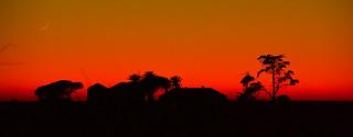 Soleil couchant sur les salins d'Hyères
