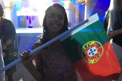 Mariana Venâncio na red carpet do Junior Eurovision