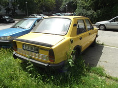 1983 Skoda 105 (Alpus) Tags: rare cars czechoslovakia bulgaria sofia yellow classic june 2016