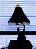 (Cliff Michaels) Tags: iphone iphone6 photoshop pse9 lamp windowblinds