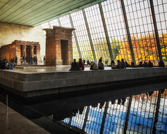 Autumn afternoon at the Temple of Dendur (brianloganphoto) Tags: ancient logan metropolitanmuseumofart metlifebuilding manhattan northamerica regions newyork templeofdendur ny viviansandstonewater family reflection indoor museum tourists nyc newyorkcity landcape landmark egyptian unitedstates anniversary brian viviansandstonewatertemple us