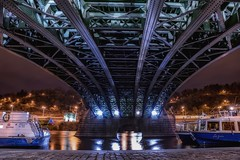 bridge (bialobrody) Tags: bridge water nightshot night river boats