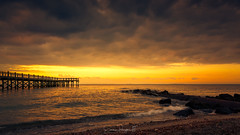 Darkest Before the Dawn (Simmie | Reagor - Simmulated.com) Tags: 2017 albertmunroepier clouds connecticut connecticutphotographer fall landscape landscapephotography longislandsound milford nature naturephotography newengland november outdoors pier seascape stormy sunrise unitedstates walnutbeach beach cloudy colorful ctvisit digital dramatic https500pxcomsreagor httpswwwinstagramcomsimmulated overcast water wwwsimmulatedcom