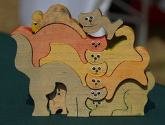 Whimsical Woodshop (Scott 97006) Tags: craft woodwork creative unique art cats mouse