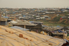 View of the sprawling Kutupalong refugee camp near Cox's Bazar, Bangladesh.