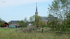 Nederlands Hervormde kerk,  Zegveld (bcbvisser13) Tags: kerk church église kirche village dorp dorf grassland hek schuur barn kerktoren zegveld gemwoerden provutrecht nederland eu
