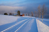 The winter is coming - the lake Aursunden is about to freeze (harald.bohn) Tags: aursunden røros trøndelag norge norway winter vinter øake innsjø is frostrøyk snø sandneset vei road shadows skygger