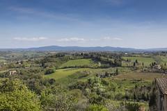 Paisaje de la Toscana en San Giminano (José M. Arboleda) Tags: paisaje verde loma cielo nube árbol toscana sangiminano italia europa eos ef1740mmf4lusm markiii canon 5d