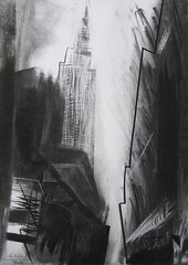 NYC - From 7th Avenue. 2017 by Stephen B Whatley (Stephen B. Whatley) Tags: art expressionism contemporaryart nyc newyork drawing charcoal empirestatebuilding 7thave newyorkcity usa artblackwhite city architecture buildings stephenbwhatley stephenwhatley artiststephenbwhatley whatley thanksgiving abstract abigfave blueribbonwinner