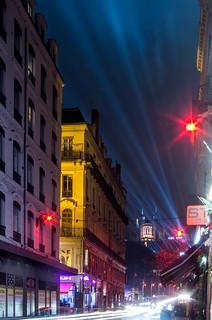 Fête des lumières - Lyon 2017 rue Grenette face au pont maréchal Juin - #explore  #OhMarieSiTuSavais