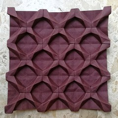Star Tessellation - Dasa Severova (Elool Yanover) Tags: origami tessellation paper canson star brown
