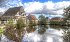 Heart of the Village (blavandmaster) Tags: nuages ostwestfalen sky 6d landschaft landbrug 40millions paysage himmel clouds tyskland wolken openluchtmuseum skyer windmühle watermill windmill 2017 detmold interesting duitsland fachwerk lyng harmonic christiankortum ciel hemel freilichtmuseum ferrytale lumière lys canon colours building himlen storybook landbouw landscape germany happy architektur deutschland countryside eos6d eastwestphalia allemagne architecture 40millionviews openairmuseum kleuren perfect light landskabet