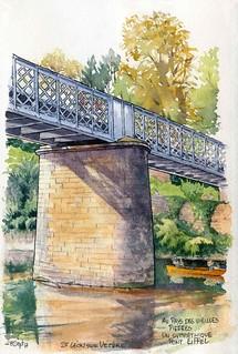 St Léon sur Vézère, le pont Eiffel