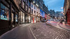Round the bend (McQuaide Photography) Tags: edinburgh scotland unitedkingdom greatbritain gb uk sony a7rii ilce7rm2 alpha mirrorless 1635mm sonyzeiss zeiss variotessar fullframe mcquaidephotography adobe photoshop lightroom outdoor tripod manfrotto bluehour building architecture city capitalcity oldtown history historical travel old oldtownofedinburgh longexposure unesco worldheritage street victoriastreet nopeople 169 widescreen terrace shop shops road car lighttrail curve curved bend