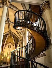 Helix miracle in the Loretto Chapel (kimbar/Thanks for 3 million views!) Tags: church gothicrevival newmexico santafe spiralstaircase staircase loretto helix miraculousstaircase chapel