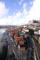 widok z mostu Porto