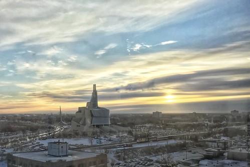 Monday morning. Winnipeg. Winter.