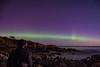 Aurora at Orlock Point (7th Nov 2017)  [Explore] (Philip McErlean) Tags: aurora borealis green arc rays northern lights night sky stars sea ireland rocks orlock co down north