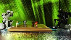 A Game of Chess (Mars Mann) Tags: k2so stormtrooper starwars legophotography legocreations legostarwars gameofchess minifigures marsmannphotography toys marsmanncreations lego flickrmarsmann photography game boardgame olympus legominifigures creative rogueone robot green wood legomarsmann november marsmannlego flickrlego marsmannonflickr